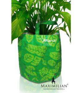 Einkaufstaschen Kunststoff als Pflanzentasche
