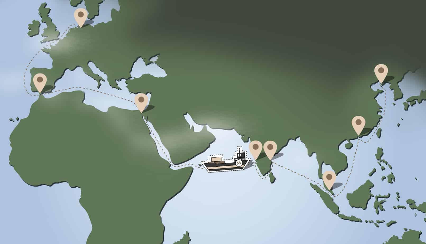 Werbetaschen Transport Seeweg