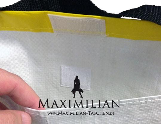 Werbetaschen Verschlüsse Innentasche mit Klettverschluss