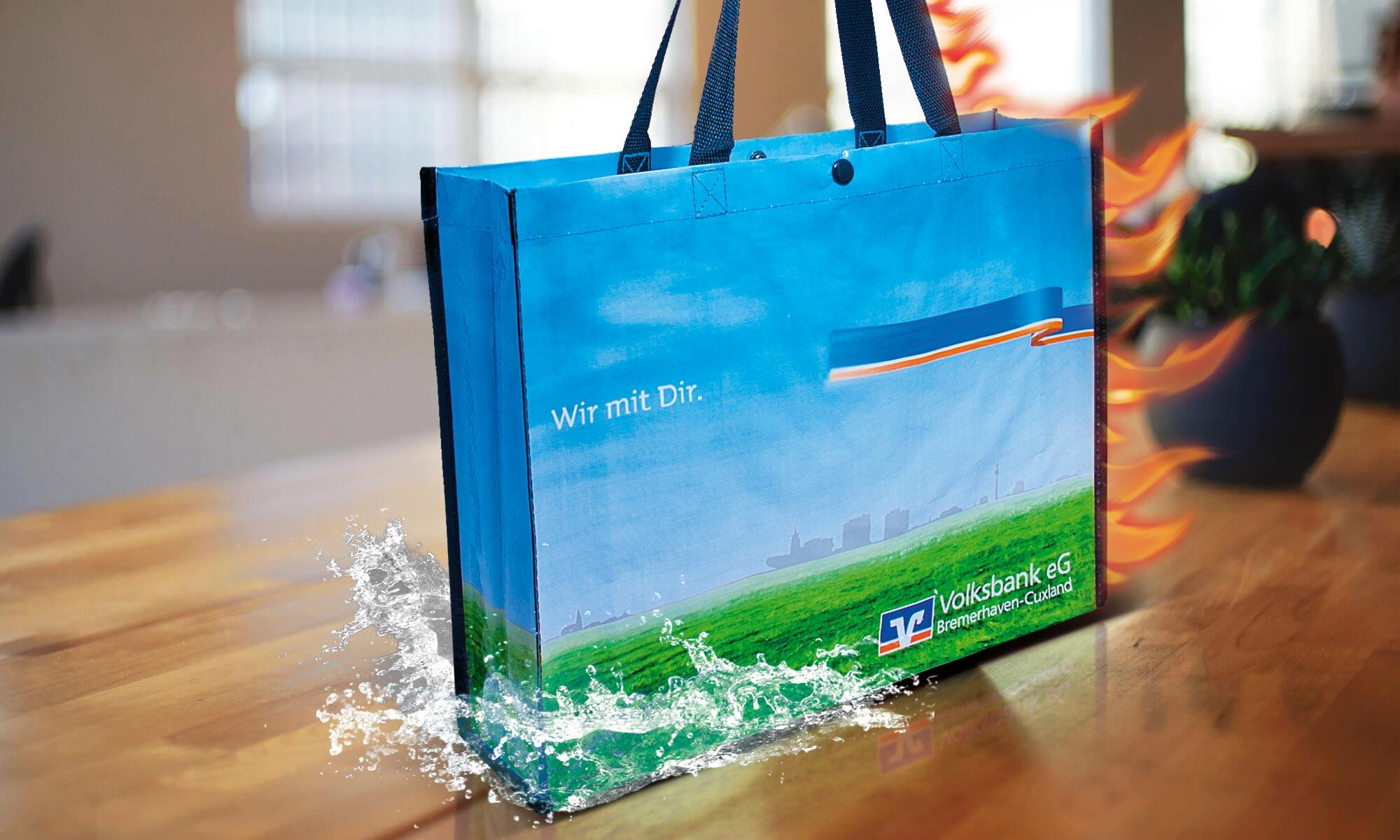 Nachhaltige Werbetaschen aus rycycelten Kunststoffen